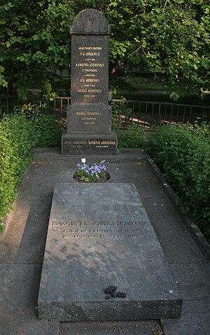 Svante Arrhenius - Arrhenius' family grave in Uppsala