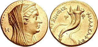 Arsinoe II Ptolemaic Greek Princess of Ancient Egypt and Queen of Thrace, Asia Minor and Macedonia