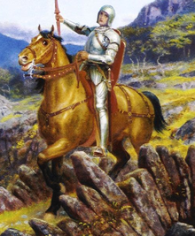 Arthur Hughes - Overthrowing of the Rusty Knight (detail).png