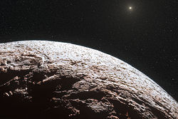 Artist's impression of the surface of the distant dwarf planet Makemake.jpg