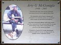 Arty G McGonigle plaque - geograph.org.uk - 1031842.jpg