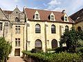 Asnières-sur-Oise (95), abbaye de Royaumont, bâtiment des convers, vestibule, et bâtiment des cuisines.JPG