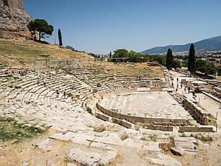 Ancient theater in the Acropolis of Athens