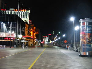 English: Boardwalk in Atlantic City, New Jerse...