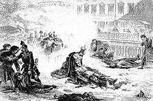 Die Ermordung Alexanders II. von Russland, 1881 (Quelle: Wikimedia)