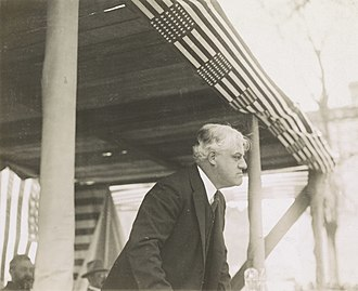 A. Mitchell Palmer - Palmer on a flag-draped podium during his bid for the Democratic nomination