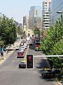 Avenida Vitacura -comienzo y catedral castrense de Los Leones f02.jpg