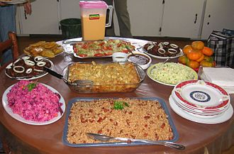 Latin American cuisine - A table setting of Haitian food