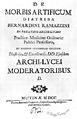 "B. Ramazzini ""De morbis..."", 1700; title page Wellcome M0018832.jpg"