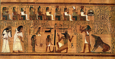The Weighing of the Heart from the Book of the Dead of Ani BD Weighing of the Heart.jpg
