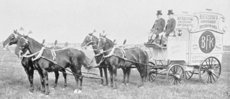Benjamin Franklin Keith - Keith's advertising wagon, ca.1894