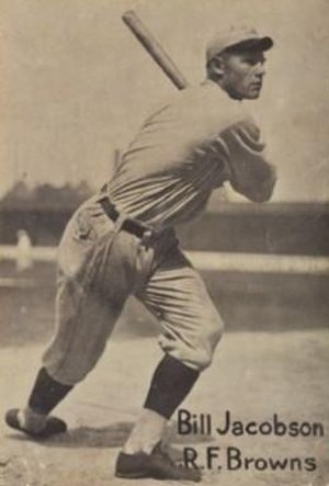 Baby Doll Jacobson - 1919 baseball card of Jacobson