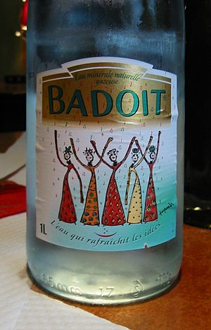 Badoit - Bottle of Badoit mineral water