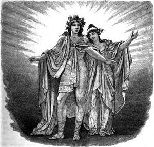 Nanna (Norse deity) - Baldr and Nanna (1882) by Friedrich Wilhelm Heine