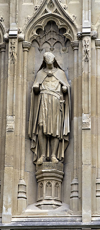 Baldwin of Forde - Statue of Baldwin of Forde from the exterior of Canterbury Cathedral