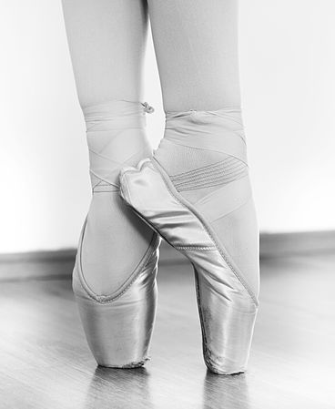 Ballet shoes (Russian ballet school М. Исаева) bw.jpg