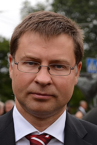Latvian parliamentary election, 2010 - Image: Balticfreedom 1c 558 6376.Valdis Dombrovskis
