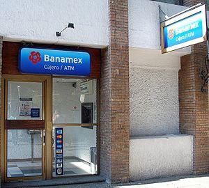 Grupo Financiero Banamex - A Banamex ATM in Puerto Vallarta