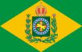 Bandeira do Império do Brasil com nó em heráldica correta.png