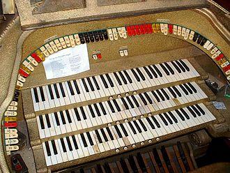 Al. Ringling Theatre - The Al. Ringling's Barton theater pipe organ console