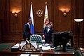 Barack Obama in Dmitry Medvedev's office.jpg