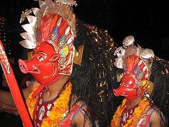 Bhairab Naach - Image: Barah (Bhairab Naach masks)