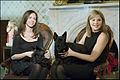 Barbara and Jenna Bush withs Barney and Beazley.jpg