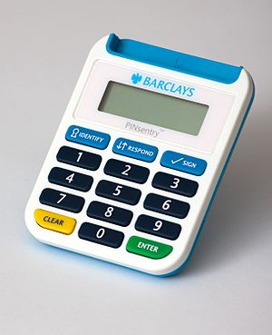 Card reader - The Barclays PINsentry Chip Authentication Program device