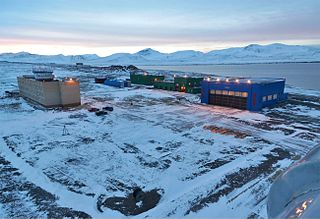 Barentsburg Heliport, Heerodden private heliport in Barentsburg, Svalbard, Norway