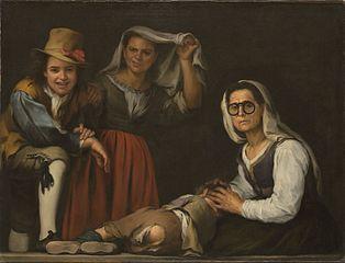 Cztery postacie na stopniu (obraz Murilla)