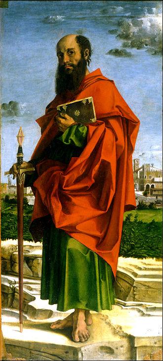 Paul the Apostle - Saint Paul by Bartolomeo Montagna