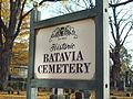 Batavia Cemetery Sign Oct 09.JPG