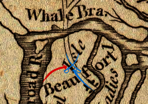 Battle of Beaufort - Movements after the British landing leading up to the battle