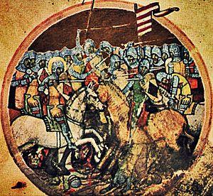 Battle of Mogyoród - Image: Battle of Mogyoród (Chronicon Pictum 085)