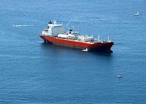 Tanker in the Bay of Gibraltar.