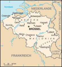 Frankreich Karte Stadte.Liste Der Stadte In Belgien Wikipedia