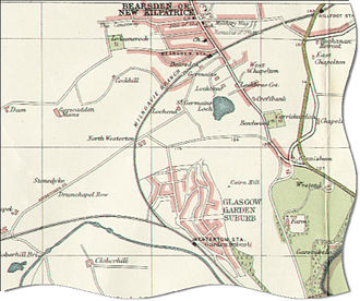 Bearsden - Map of Bearsden in 1923
