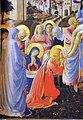 Beato angelico, pala strozzi della deposizione, con cuspidi e predella di lorenzo monaco, 04.JPG
