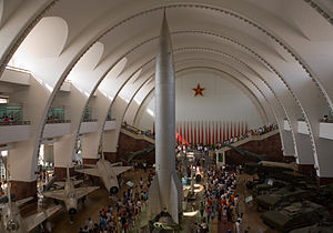 Military Museum of the Chinese People's Revolution - The museum's main hall, with a Dongfeng 1 (SS-2) missile in the center