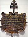 Belagerung von Rapperswil 1656 - Gedenktafel für den 11-jährigen erschossenen Franz Rothenfluh von Rapperswil - Stadtmuseum Rapperswil 2013-01-05 16-27-48.JPG