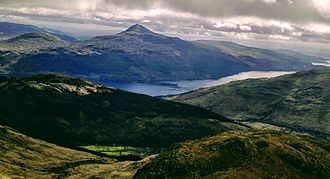 Ben Lomond - Ben Lomond above Loch Lomond, as seen from the slopes of Beinn Narnain.
