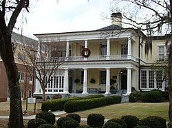 Benet House with Christmas wreath (Augusta State University).jpg