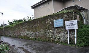 Kartosuro - Remaining wall from the Kartasura palace