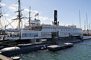 Berkeley Ferry and U.S.S. Dolphin at the Maritime Museum of San Diego