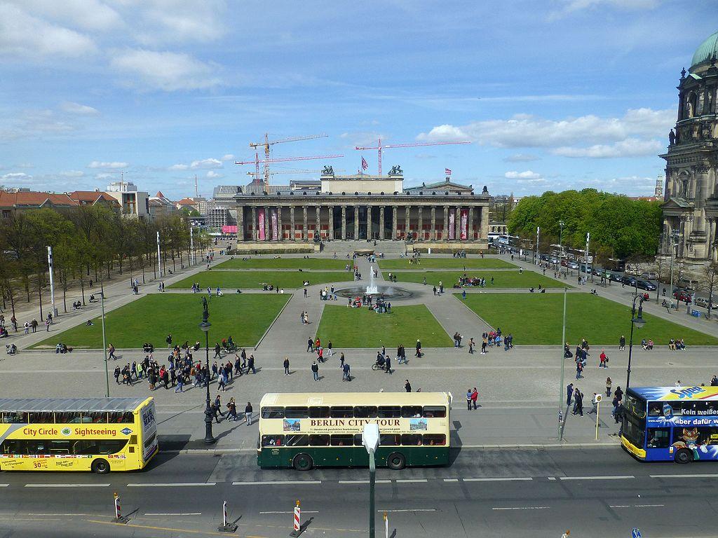 Lustgarten (Welterbe Museumsinsel Berlin). Berlin-Vue depuis la Humboldt-Box (1)