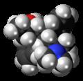 Betamethadol molecule spacefill.png