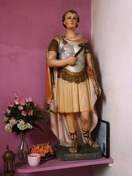 Beuvry-la-Forêt (Nord, Fr) église, statue St.Julien