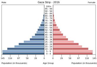 Demographics of the Palestinian territories - Population pyramid Gaza Strip 2016