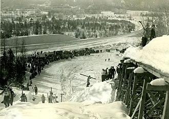 Canadian Ski Museum - Image: Big Bend Ski Jump, 1947