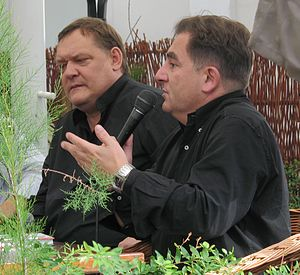 Maus - Piotr Bikont (left) set up a publishing house in 2001 to put out a Polish edition of Maus in the face of protest.